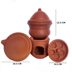 Miniature Clay Idli and Dosa Maker - Medium size
